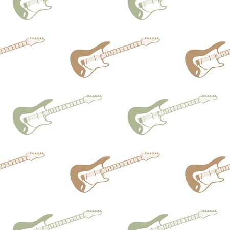 Guitars pattern, music illustration. Creative and luxury cover
