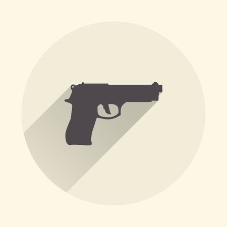 Gun icon illustration. Creative and retro image Illustration
