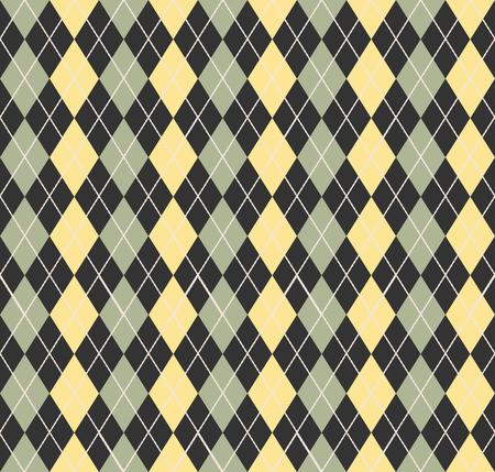 Argyle-Muster. Geometrischer einfacher Hintergrund. Kreative und elegante Stilillustration Vektorgrafik
