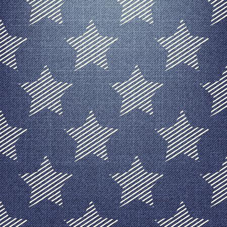 Stars pattern on textile, abstract geometric background. Creative and luxury style illustration