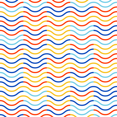 Waves pattern. Geometric simple background. Creative and elegant style illustration Ilustração