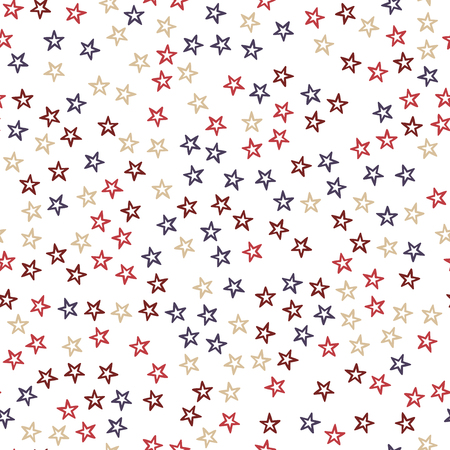 Random colorful stars pattern, abstract background. Elegant and luxury style illustration 일러스트