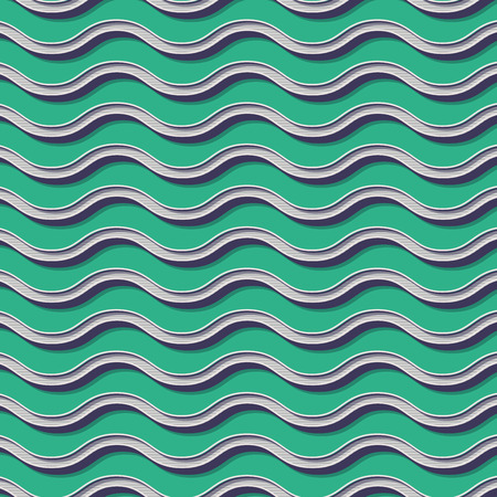 Retro waves pattern. Abstract geometric background in 80s, 90s style image. Geometrical simple illustration