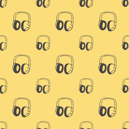 Audio headphones pattern, music illustration. Creative and luxury cover Illustration