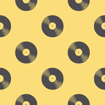 Vinyl records pattern, music illustration. Creative and luxury cover