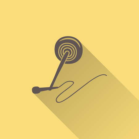 Audio microphone icon illustration, music pattern. Creative and luxury cover Illustration