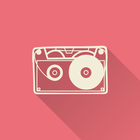 Cassette icon illustration, music pattern. Creative and luxury cover Illustration