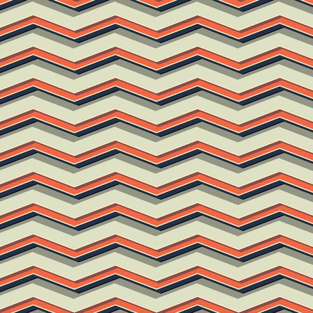 Retro zigzag pattern, abstract geometric background in 80s, 90s style. Geometrical simple illustration Vector Illustration