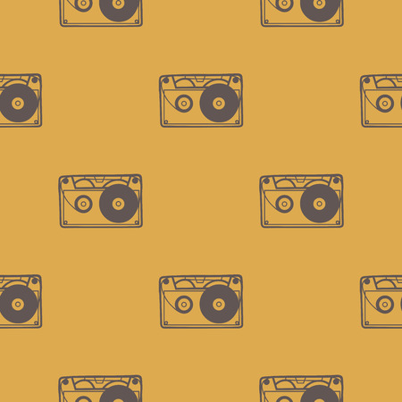 Cassette pattern, music illustration. Creative and luxury cover Illustration