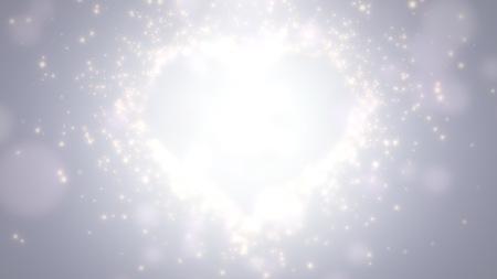 Closeup white hearts of love, wedding background. Elegant and luxury pastel style illustration