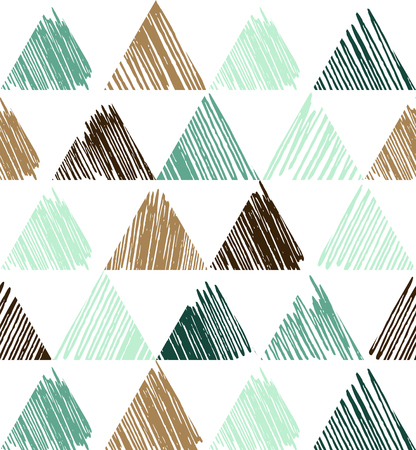 Triangle pattern with grunge texture, geometric simple background. Elegant and luxury style illustration Archivio Fotografico - 125295424