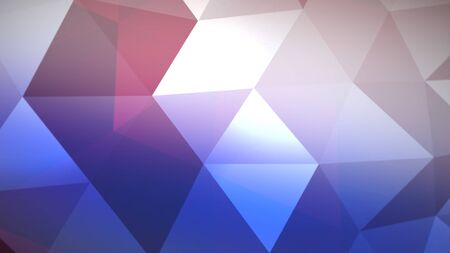 Motion blue triangles, abstract background. Elegant and luxury dynamic geometric style for business, 3D illustration Archivio Fotografico - 129218866