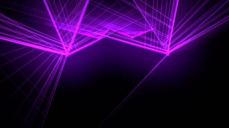 Motion colorful neon lines abstract background. Elegant and luxury dynamic club style, 3D illustration Archivio Fotografico - 129218333