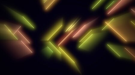 Motion colorful neon lines abstract background. Elegant and luxury dynamic club style, 3D illustration Archivio Fotografico - 129218162