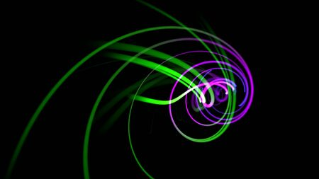 Motion colorful lines, abstract background. Elegant dynamic neon style, 3D illustration Archivio Fotografico - 129218159