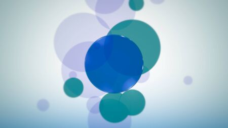 Circles pattern, abstract background. Elegant and luxury dynamic neon style for business, 3D illustration Archivio Fotografico - 129218039