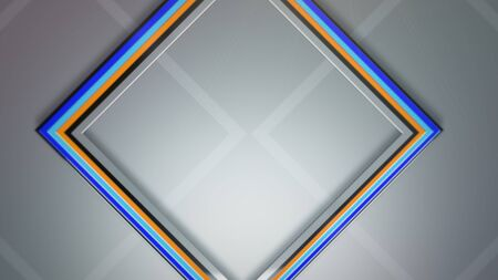 Squares pattern, abstract background. Elegant and luxury dynamic geometric style for business, 3D illustration Archivio Fotografico - 129218036