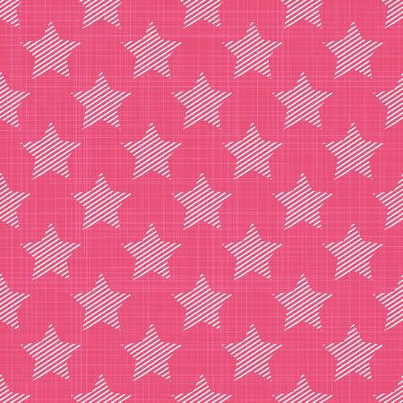 Stars pattern on textile. Abstract geometric background, vector illustration. Creative and luxury style image