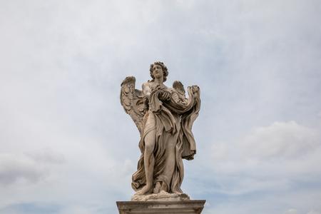 Rome, Italy - June 22, 2018: Art marble sculpture in Castel SantAngelo (Mausoleum of Hadrian) Redactioneel
