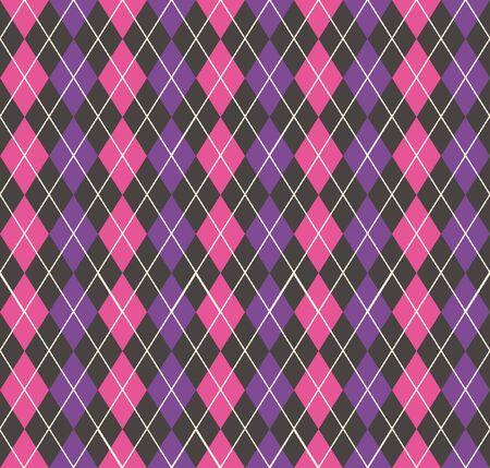 Argyle pattern, geometric simple background. Elegant and luxury style illustration Stockfoto - 129421790