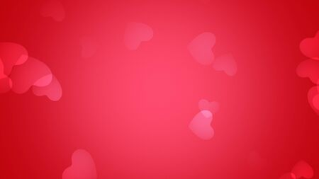 Romantic hearts on shiny background. Happy valentines day holidays greeting. Luxury and elegant style 3D illustration Banco de Imagens - 129421939