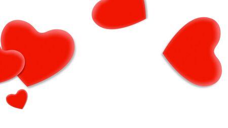 Romantic hearts on shiny background. Happy valentines day holidays greeting. Luxury and elegant style 3D illustration Stock Illustration - 129422099