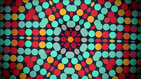 Colorful dots pattern, abstract background. Elegant and luxury geometric style 3D illustration