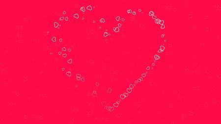 Romantic hearts on shiny background. Happy valentines day holidays greeting. Luxury and elegant style 3D illustration Banco de Imagens - 129422271