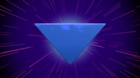 Retro triangle abstract background with noise and distortion. Elegant and luxury 80s, 90s style 3D illustration 写真素材 - 129422170