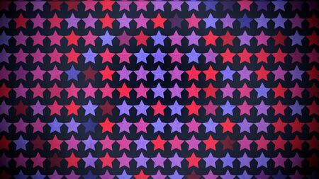 Colorful stars pattern, abstract background. Elegant and luxury geometric style 3D illustration Imagens