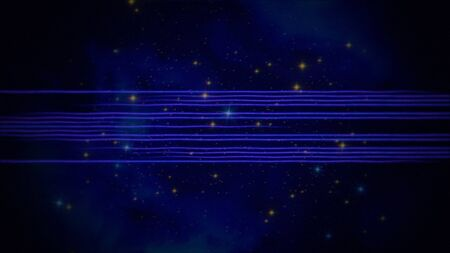 Retro lines in galaxy, abstract background. Elegant and luxury 80s, 90s style 3D illustration