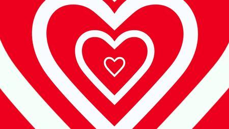 Romantic hearts on shiny background. Happy valentines day holidays greeting. Luxury and elegant style 3D illustration Stock Illustration - 129421916
