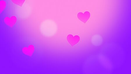Romantic hearts on shiny background. Happy valentines day holidays greeting. Luxury and elegant style 3D illustration