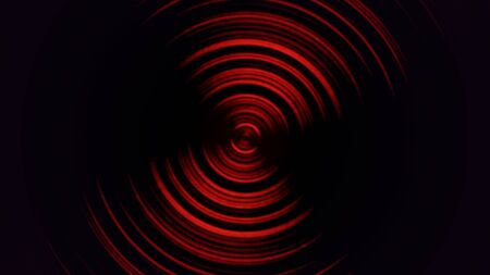Abstract motion spiral with noise in 80s style, retro background. Elegant and luxury dynamic game 3D illustration style