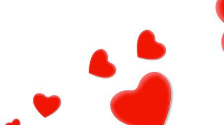 Romantic hearts on shiny background. Happy valentines day holidays greeting. Luxury and elegant style 3D illustration Banco de Imagens - 129421369