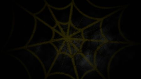 Halloween animation with spider web on dark background. Happy holiday abstract backdrop. Luxury and elegant style 3D illustration for holiday template 版權商用圖片
