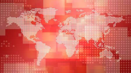 News intro graphic animation with lines and world map, abstract background. Elegant and luxury 3D illustration style for news and business template Stock Photo