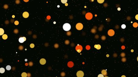 Abstract bokeh particles falling and elegant dynamic style 3D illustration.