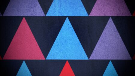 Colorful triangles pattern, abstract background. Elegant and luxury geometric style 3D illustration