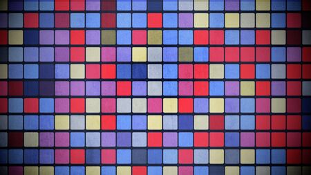 Colorful squares pattern, abstract background. Elegant and luxury geometric style 3D illustration