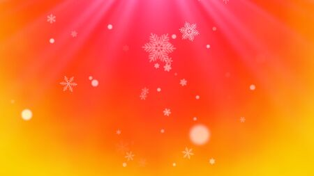 White snowflakes and abstract particles falling. Happy New Year and Merry Christmas shiny background. Luxury and elegant dynamic style 3D illustration for winter holiday 写真素材