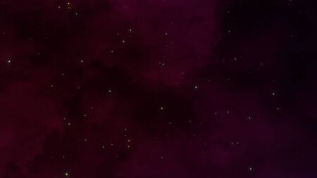 Particles and stars in galaxy, abstract background in style 3D illustration.