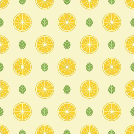 Fruits pattern, colorful summer background. Elegant and luxury style illustration Çizim