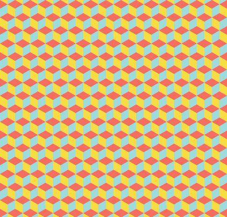 Cubes pattern. Abstract geometric background. Luxury and elegant style illustration 向量圖像