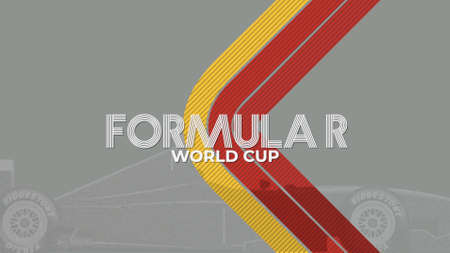 Geometric lines and text World Formula, retro sport background. Elegant and luxury 3D illustration style for sport and advertising template