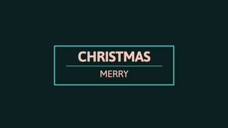 Text Merry Christmas on black fashion and minimalism background. Elegant and luxury 3d illustration for business and corporate template 免版税图像