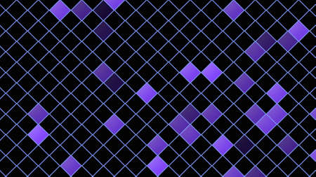 Blue squares pattern, abstract background. Elegant and luxury dynamic geometric style for business, 3D illustration Zdjęcie Seryjne