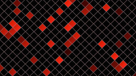 Red squares pattern, abstract background. Elegant and luxury dynamic geometric style for business, 3D illustration Zdjęcie Seryjne