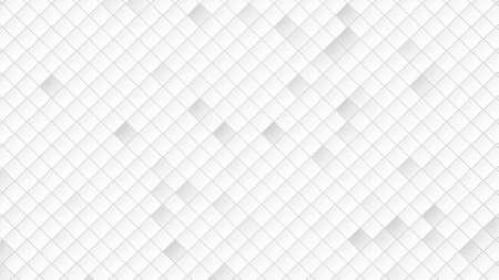 White squares pattern, abstract background. Elegant and luxury dynamic geometric style for business, 3D illustration
