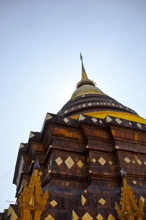The famous pagoda in Lampang, Thailand.